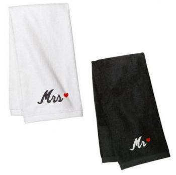 Mr Mrs Hand Towels