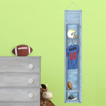 Personalized Football Growth Chart