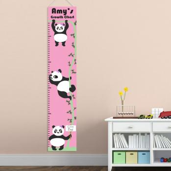 Girls Hanging Pandas Growth Chart