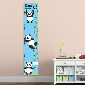 Boys Hanging Pandas Growth Chart