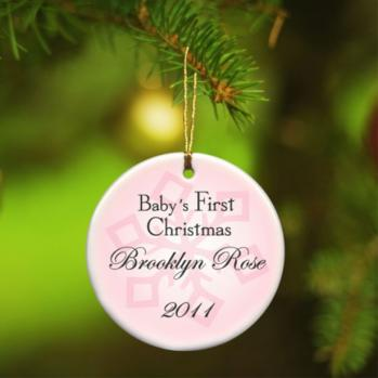 First Christmas Ornament - Baby Girl