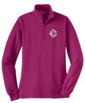 Ladies Half Zip Sweatshirt